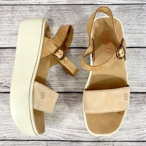 Born Leather Platform Sandals